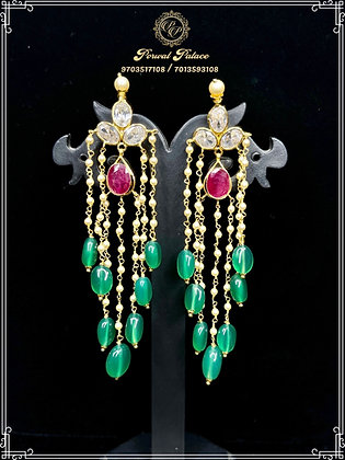 Lightweight 22ct Gold Hanging Ear Chain. Wt-6.500 gms