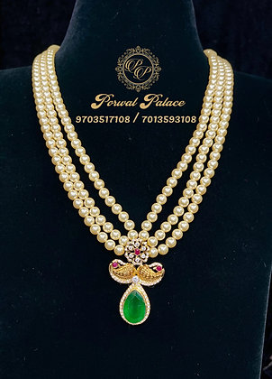 Grand Peacock Pearls Haram .Wt-10gms