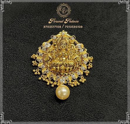 LightWeight Lakshmi Devi Pendant . Wt-8 gms