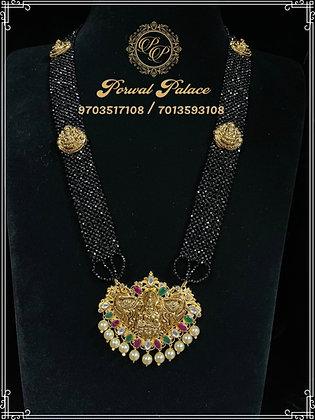 Lakshmi Devi Black Crystals Long Haar . Wt-11.500gms