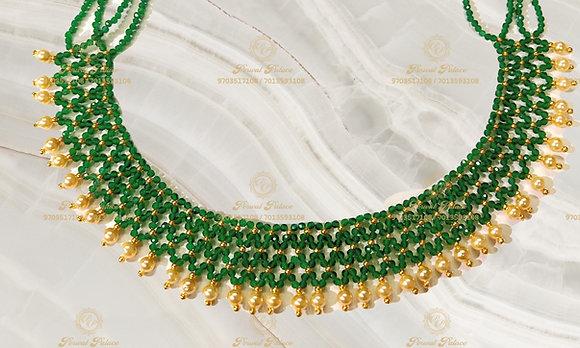 Beautiful Ultra Lightweight Emeralds Crystals Mesh Neck-2.500g