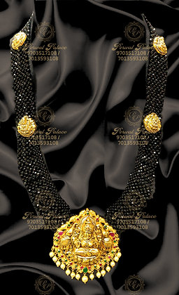 Beautiful Light Weight GAJA LAKSHMI With Black Diamond Crystals-15.800g