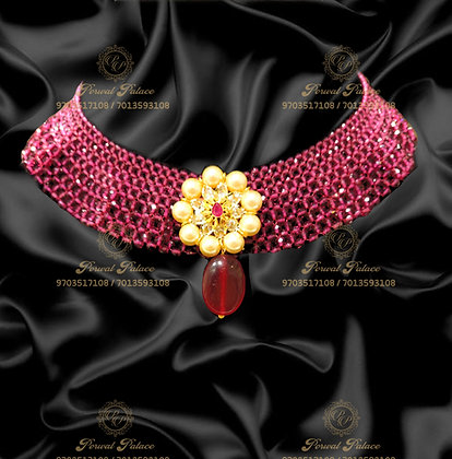 Beautiful Lightweight Ruby Necklace With SouthSea Pearls-2.100g - 8.200g