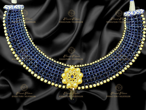 Beautiful Light Weight Blue Sapphire Crystals Necklace- 1.800g