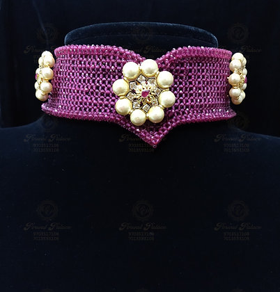 Beautiful Light Weight RUBY CHOKER Combined with SOUTH SEA PEARLS-7.200G