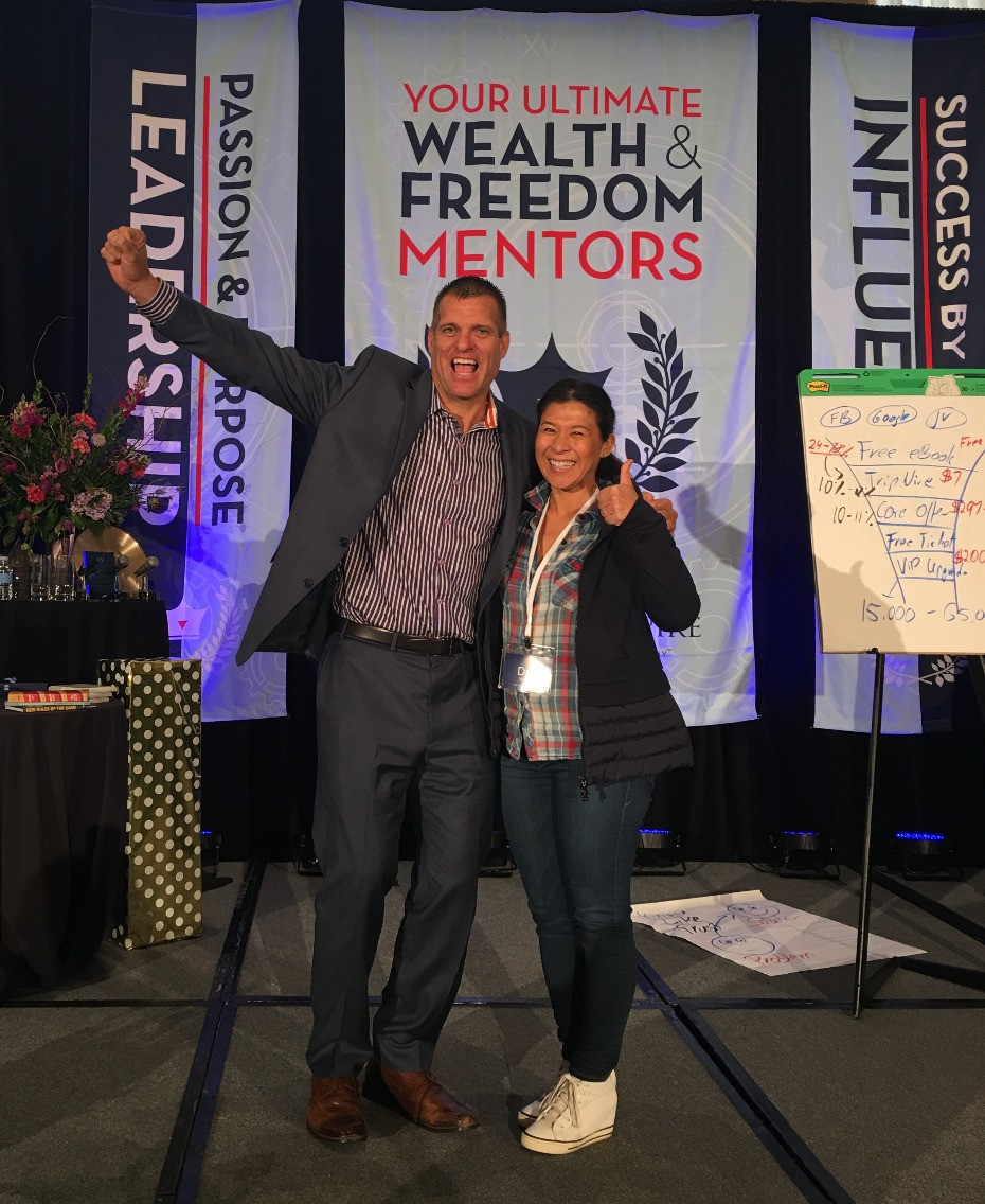 Didi Wong with Dave VanHoose at the Best You Expo