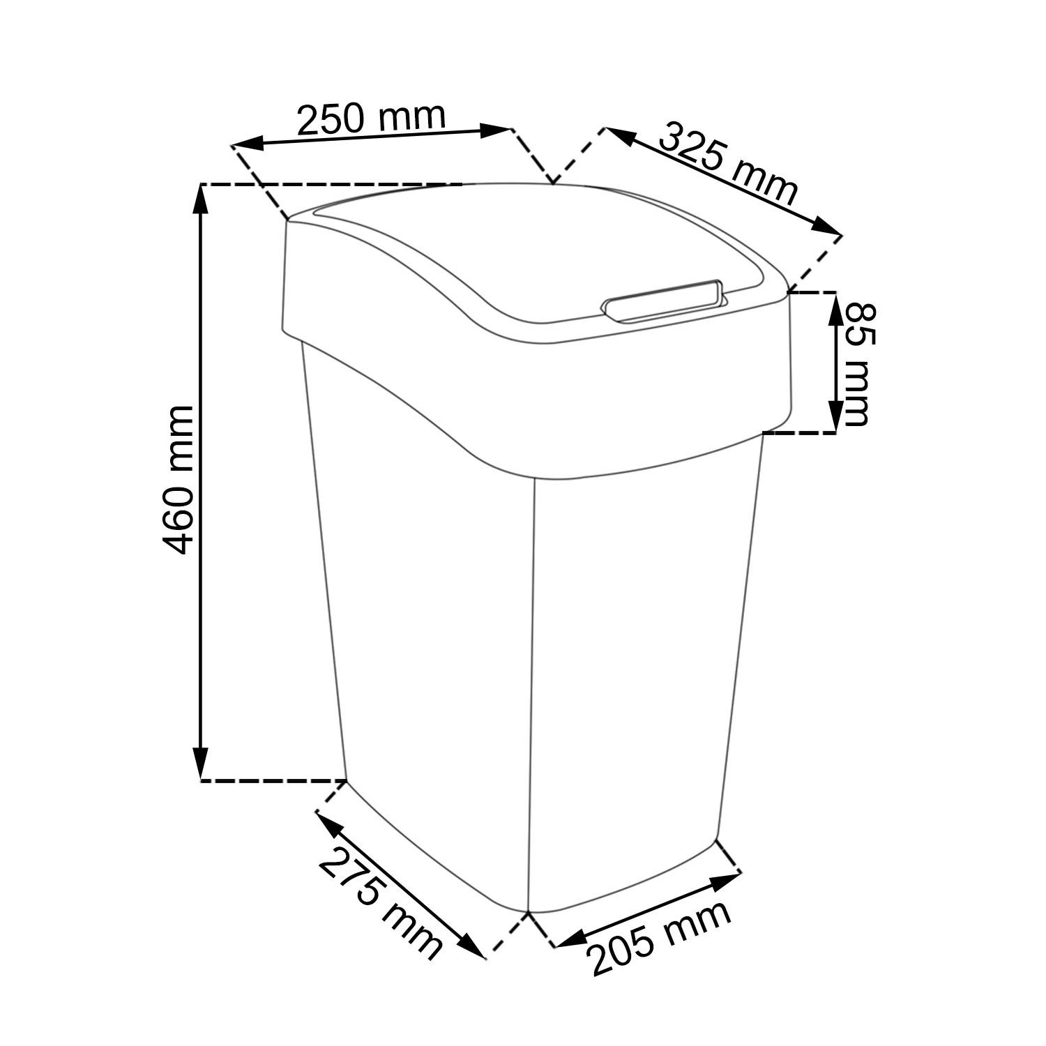 PACIFIC FLIP BIN 25L-London-1