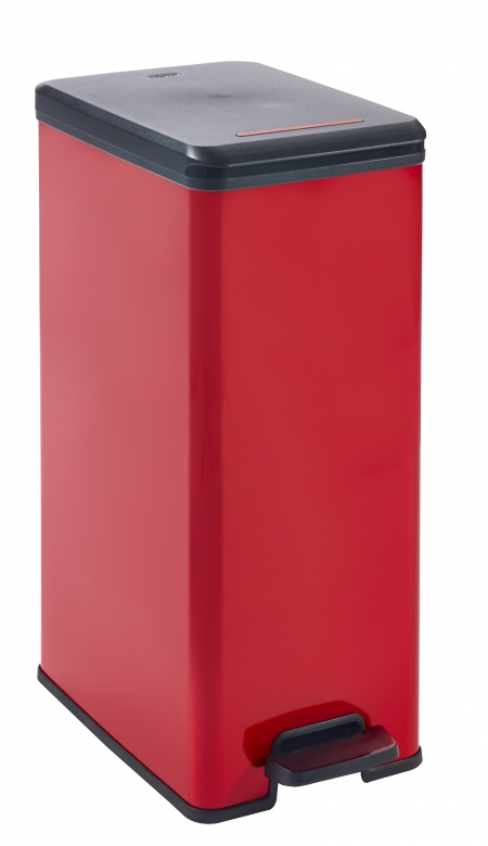 EVO213299-CURVER-DECO-SLIM-BIN-RED-40L-1
