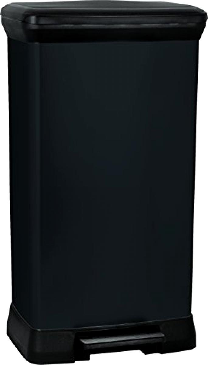 Pedal Deco Bin Black-50L