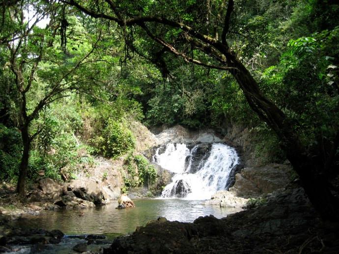 Wasserfall Quebrada Bonita am Chagres Fluss in der Nähe der Emberadörfer