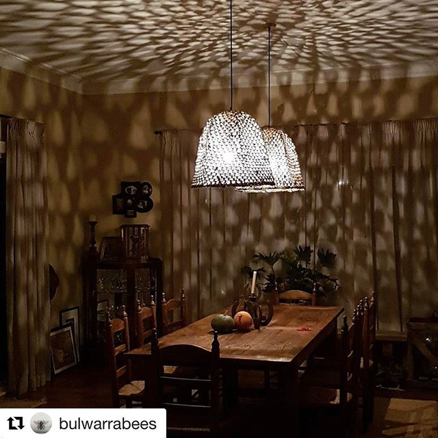 Woven basket pendants by _mrsbrookemunro installed for _bulwarrabees in bowral. Love the effect thes