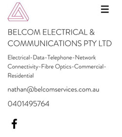 We are official a company. Belcom Electrical & Communications Pty Ltd. Jump online and check out our
