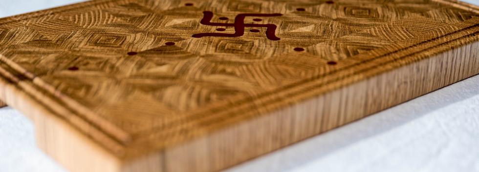 Rectangular oak chopping board