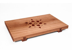 Serving tray with mandala