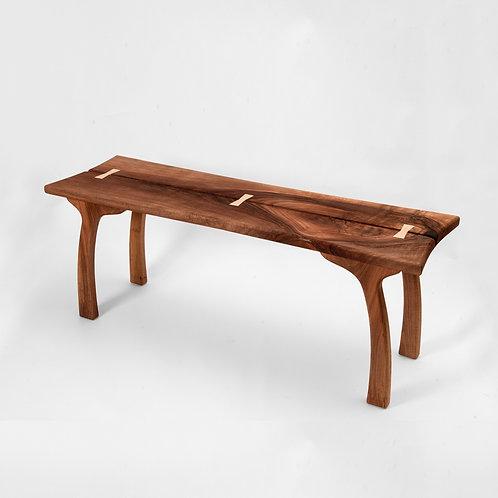Walnut sitting bench