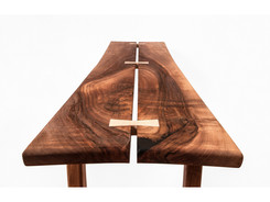 walnut bench- detail