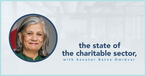 photo: the state of the charitable sector with Senator Ratna Omidvar
