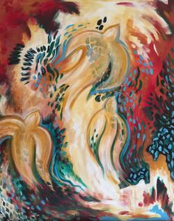 Exodus, acrylic on canvas
