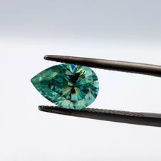 Blue Green Moissanite