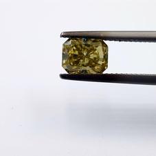 Dark Yellow Moissanite