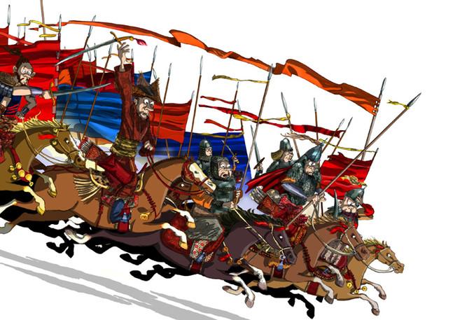 Los hunos y su caballería
