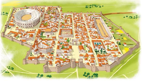 Ciudad amurallada romana