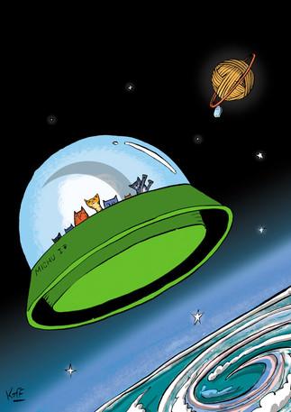 Los gatos vienen del espacio