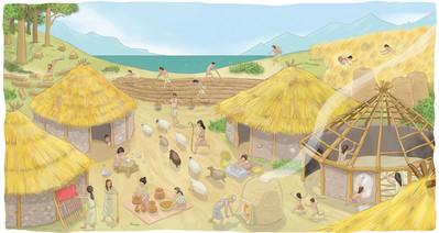 Aldea del Neolítico
