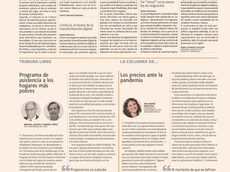 Diario Financiero - Los precios ante la pandemia