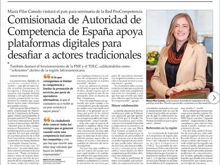 El Mercurio - Comisionada de Autoridad de Competencia de España apoya plataformas digitales