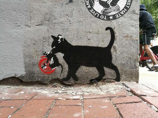 TABBY Cat vs Banksy Rat - Radar Rat