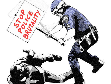 """""""Pesky Protesters"""" - Police brutality, hammering home the message"""