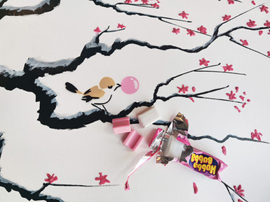 Cherry Blossom Chewing Gum
