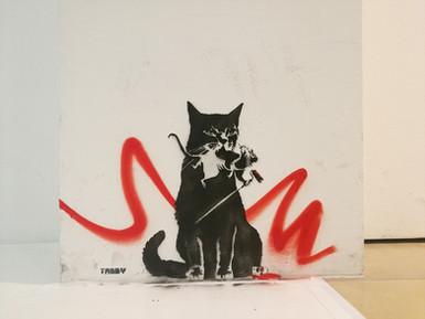 TABBY Cat vs Banksy Rat (Pest Control) - Vienna Museum