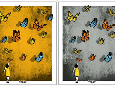 """Butterfly Girl"" Print"