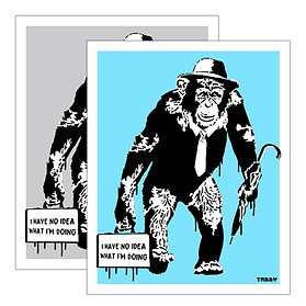 Working Chimp - No Idea, Grey or Blue