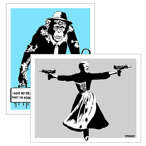 Bundle: Sound of Uzi Grey + Working Chimp Blue
