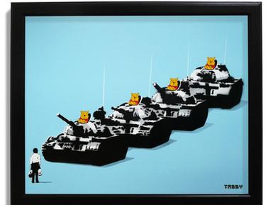 Tiananmen Bear - Canvas panel release