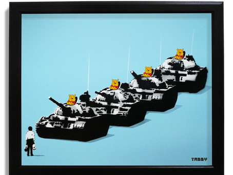 Tiananmen Bear - Canvas panel release