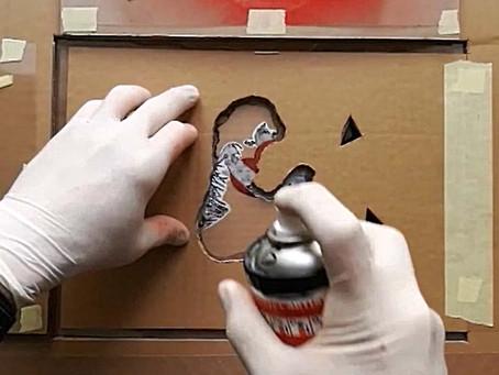 Heart & Chain II - Quick folding stencil