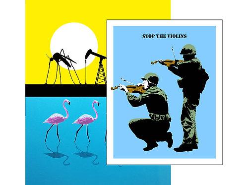 Bundle: Parasite + Flamingo + Violins Blue