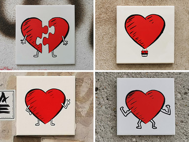 """Heartman - """"Puzzled"""", """"Heart Air Balloon"""", """"Peace"""" & """"Strongest Muscle"""""""