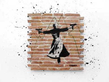 """""""Sound Of Uzi"""" miniature brick tiles"""