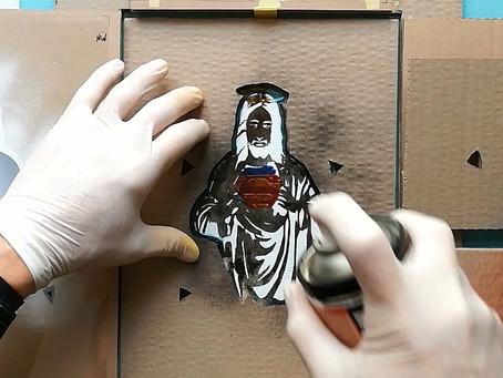 Jesus Christ Super Man - Quick folding stencils