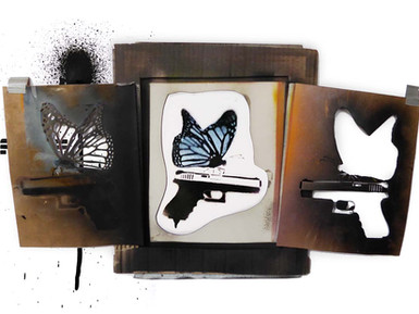 Fight of the Butterfly stencil