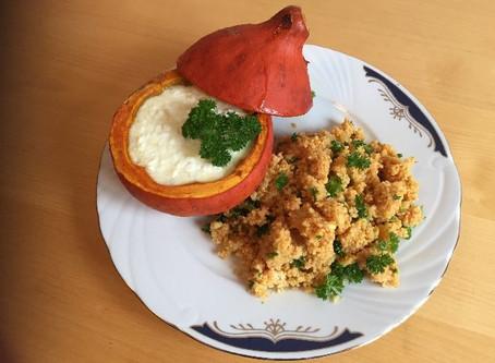 Gefüllter Kürbis mit Couscous