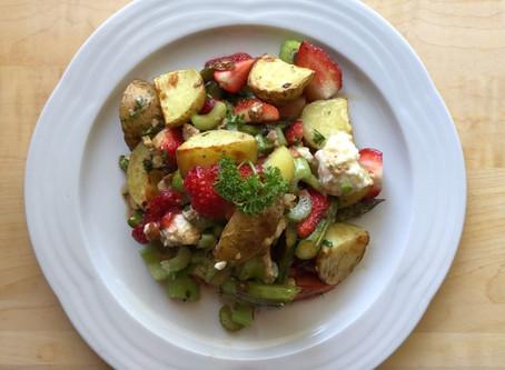 Spargel-Kartoffelsalat mit Mozzarella