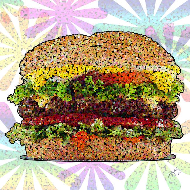 Hamburger Pop art 48x48