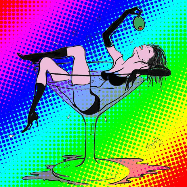 Martini Girl 48x48