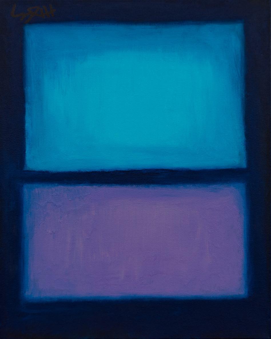 Blue Window 12x18
